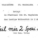 1977 -  Weil mir zwoa Spezi sein